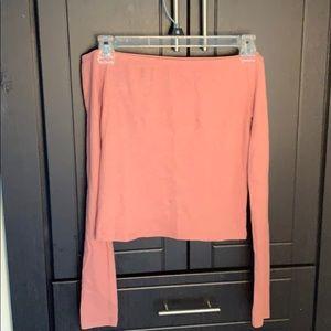 Pink off the shoulder shirt